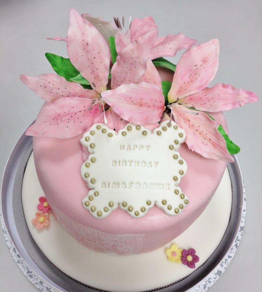 百合花糖皮蛋糕