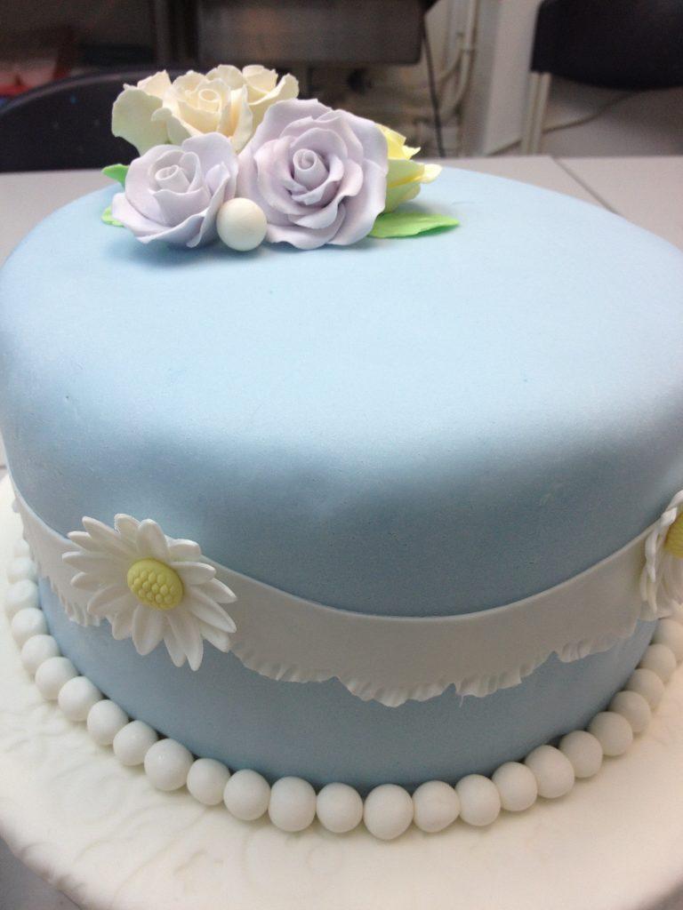 玫瑰花糖皮蛋糕