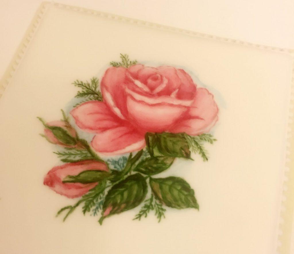 手繪玫瑰花