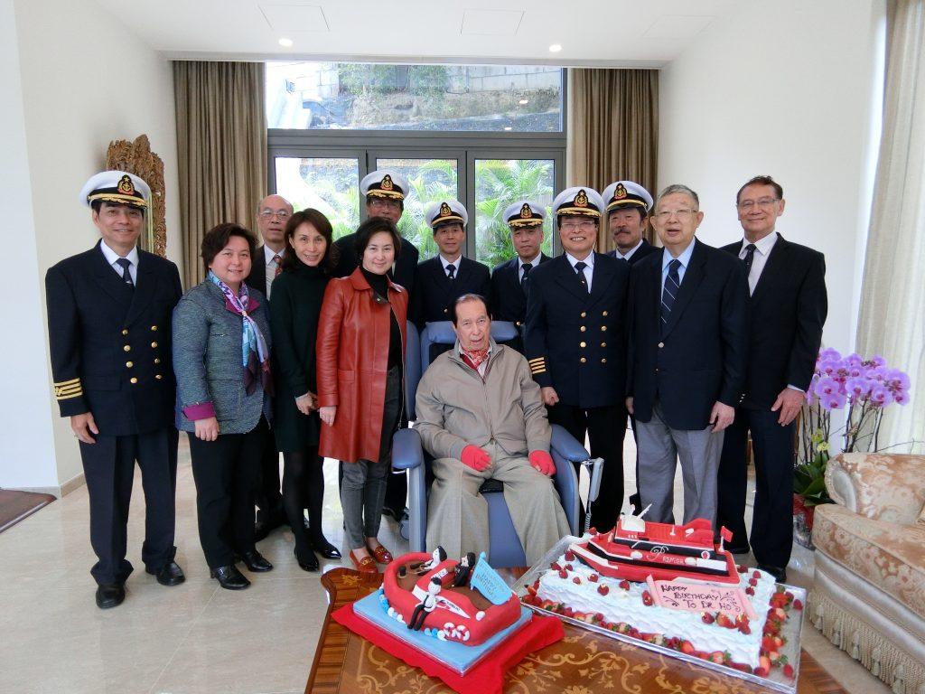 信德公司高層同事慶祝何鴻燊博士生日